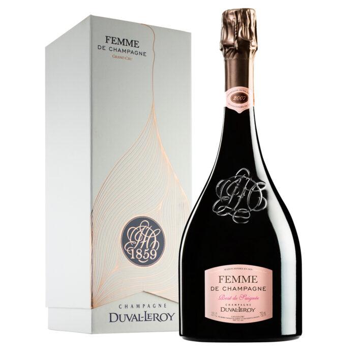 Champagne Duval-Leroy Femme de Champagne Rosé de Saignée 2007 Bouteille avec coffret - Champmarket
