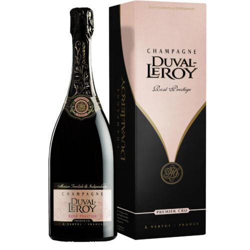 Champagne Duval-Leroy Prestige Rosé Bouteille avec étui - Champmarket