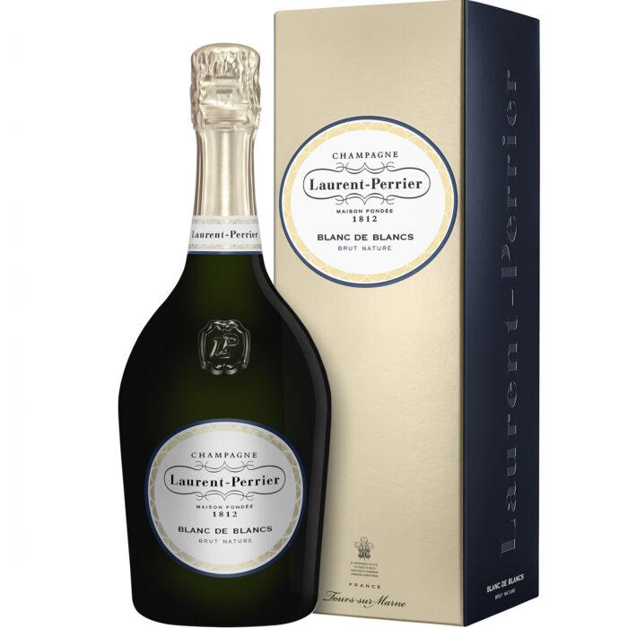 Champagne Laurent-Perrier Blanc de Blancs Brut Nature Bouteille avec coffret - Champmarket