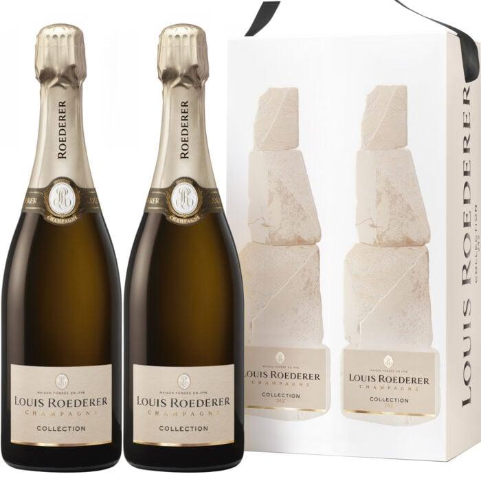 Champagne Louis Roederer Collection 242 Coffret 2 Bouteilles - Champmarket